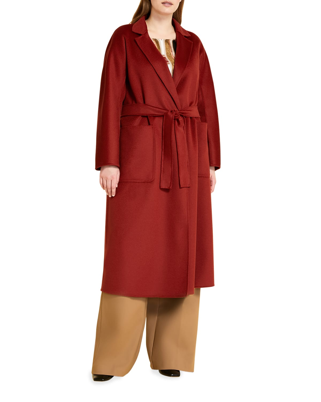 Plus Size Tempera Double-Face Wool Coat