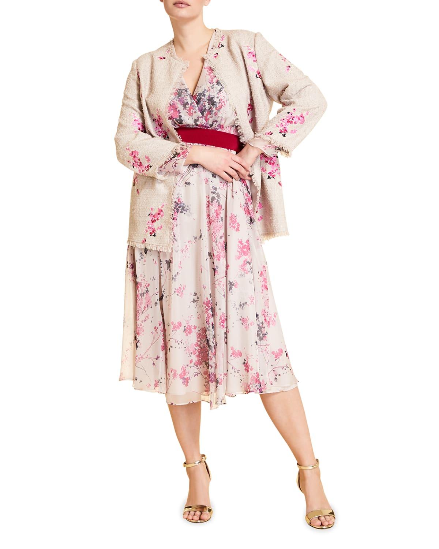 Plus Size Driver Floral-Print Georgette Dress