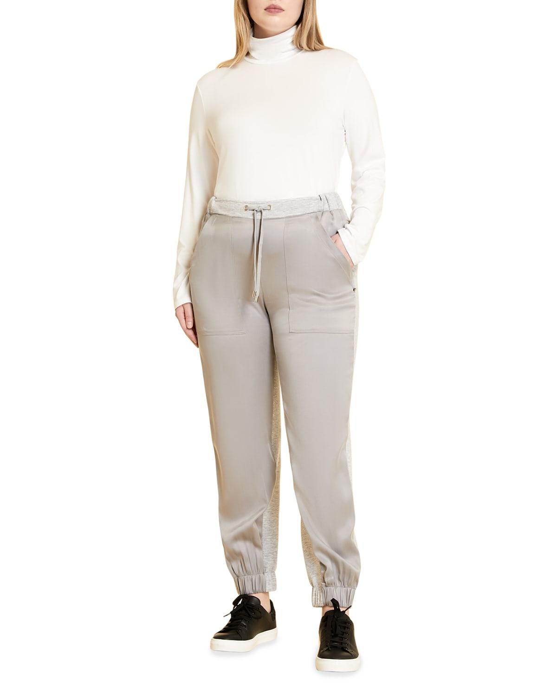 Plus Size Occupato Scuba Jersey Combo Pants