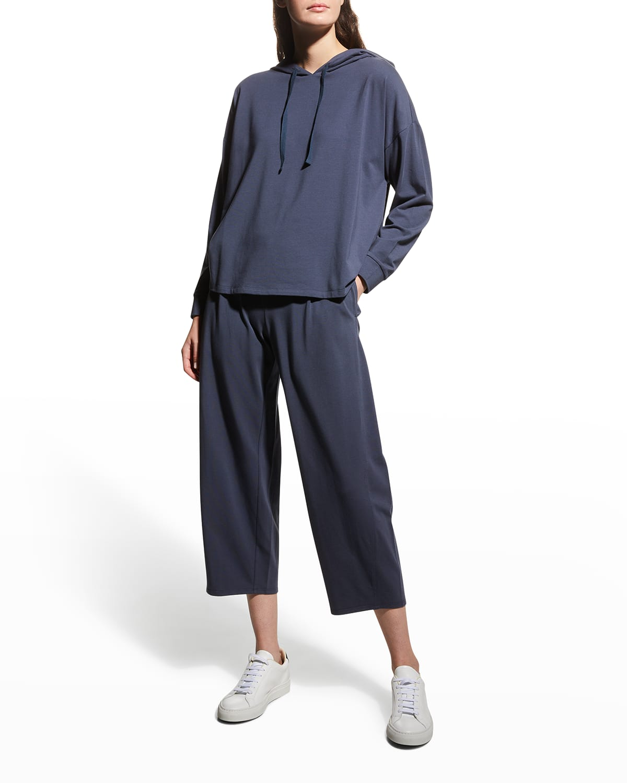 Cropped Stretch Jersey Lantern Pants