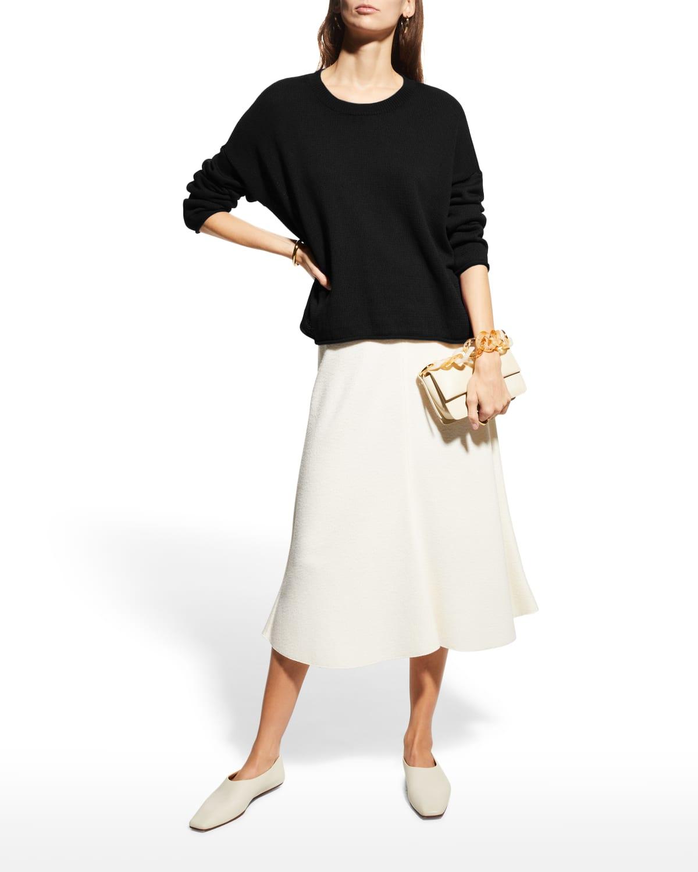 Organic Linen-Cotton Crewneck Box Sweater