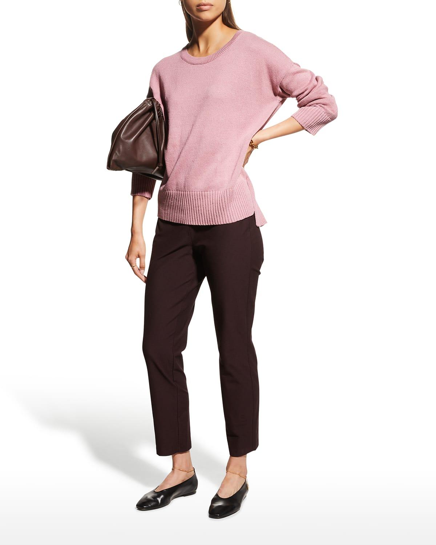 Organic Cotton-Linen Tunic Sweater