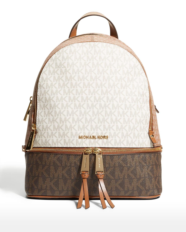 Rhea Colorblock Logo Medium Backpack