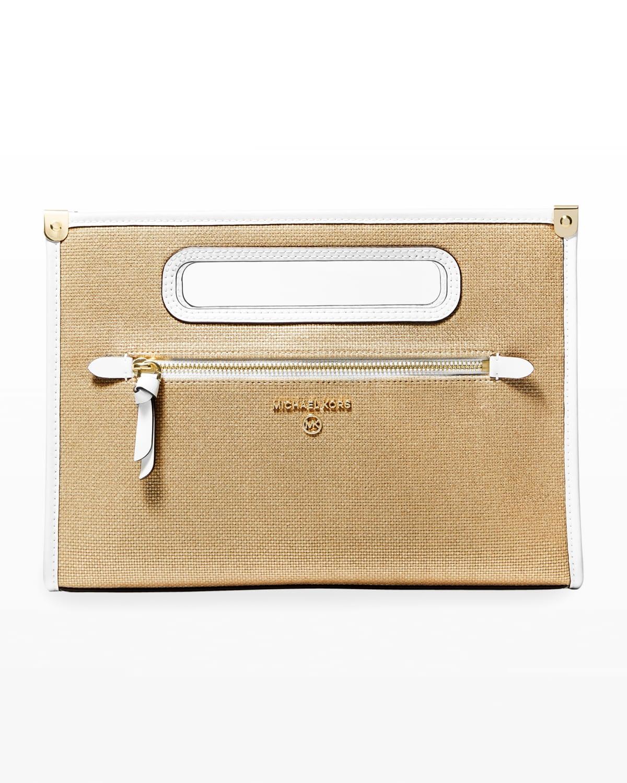 Jane Large Top Handle Clutch Bag