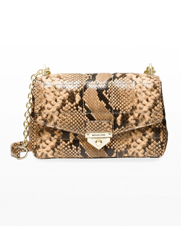 Soho Snake-Print Large Shoulder Bag