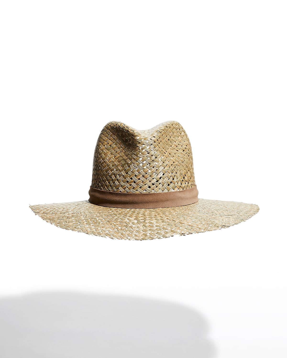 Leigh Woven Straw Fedora Hat
