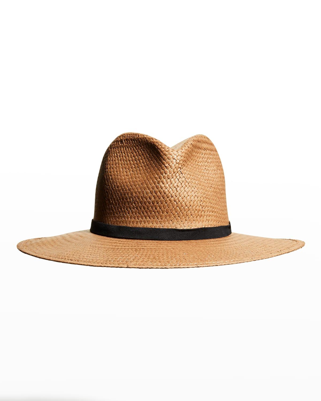 Hollis Packable Woven Fedora Hat
