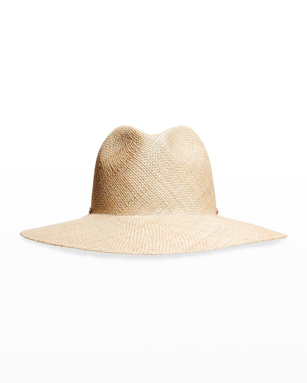 Bess Straw Wide-Brim Fedora Hat