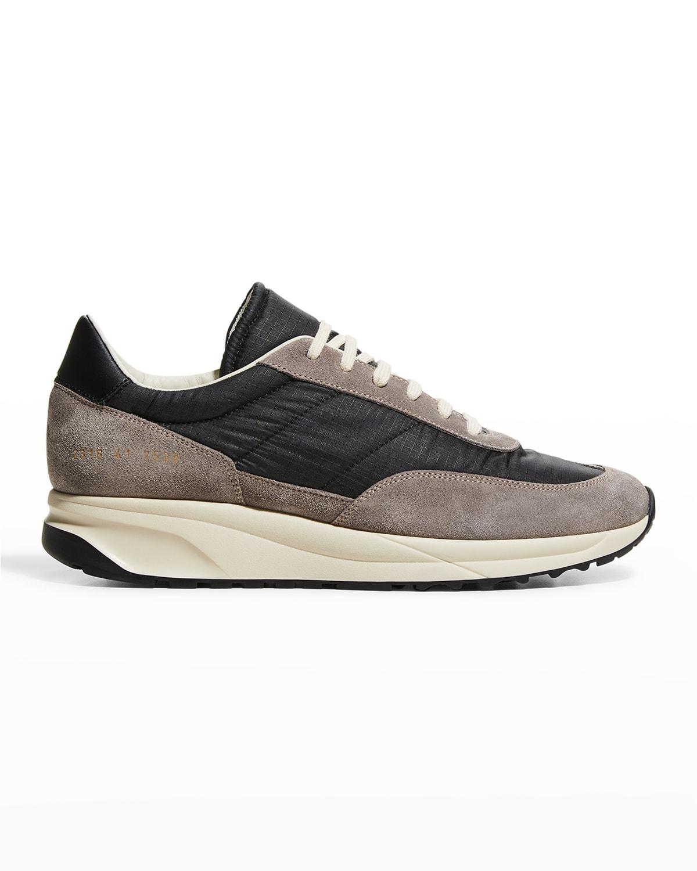 Men's Classic Suede/Nylon Track Sneakers
