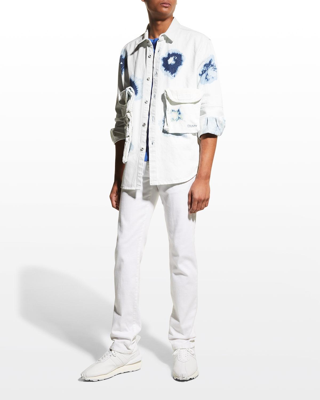 Shibori Zip Pocket Denim Shirt