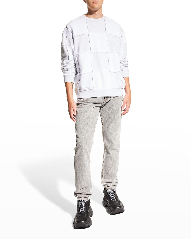 Men's Patched Checkerboard Sweatshirt