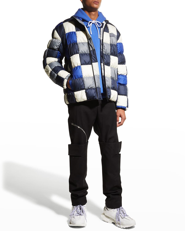 Men's Checkerboard Down Jacket