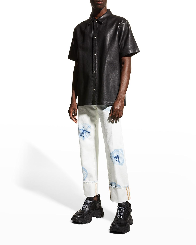 Men's Cross Shibori Jeans