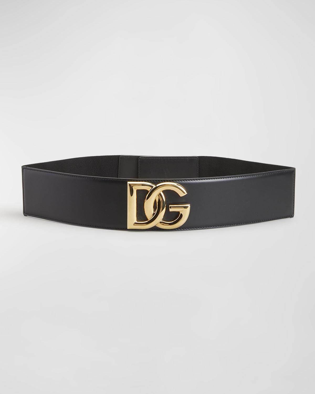 DG High-Waist Stretch Leather Belt