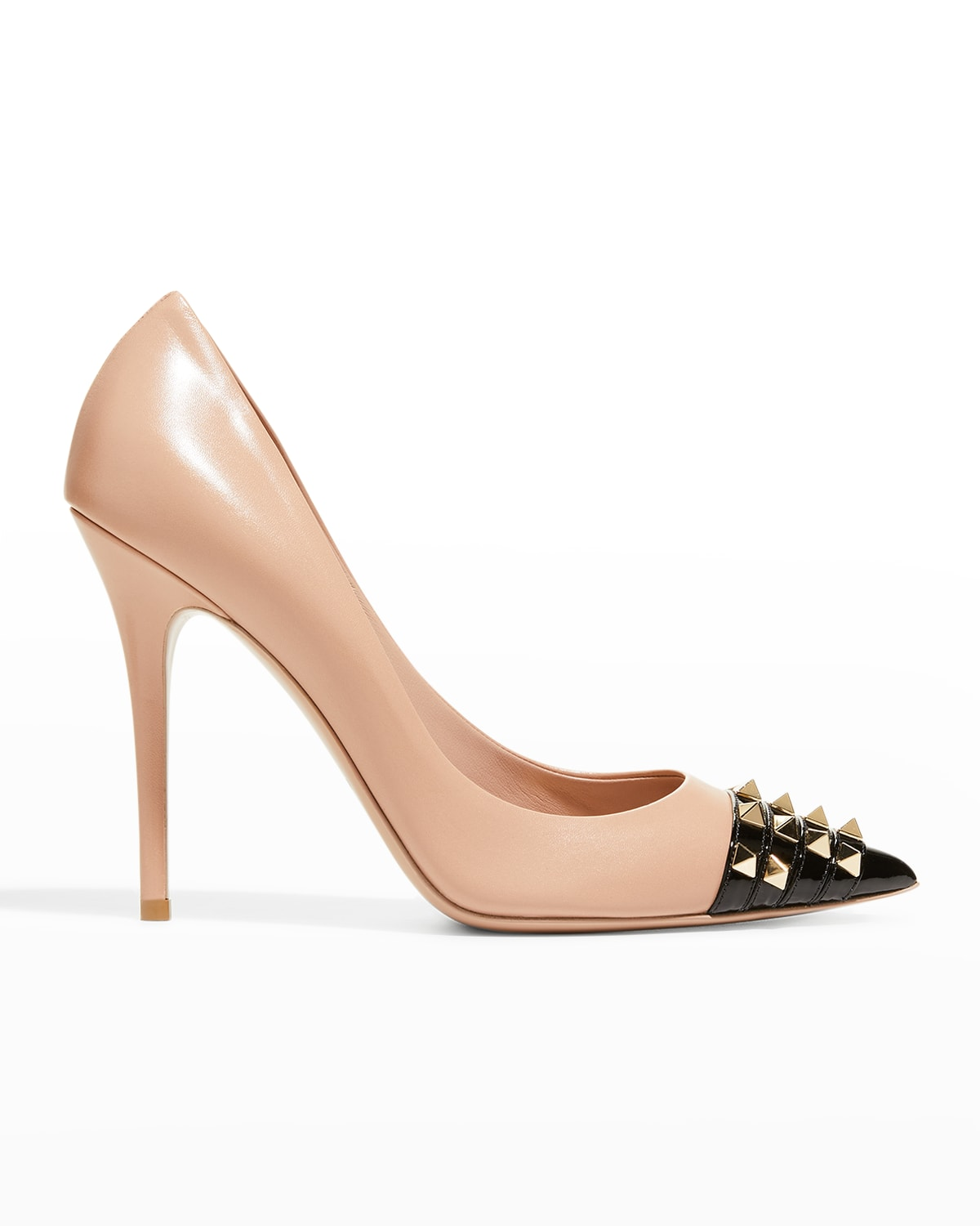 Alcove Rockstud Leather Pointed Pumps