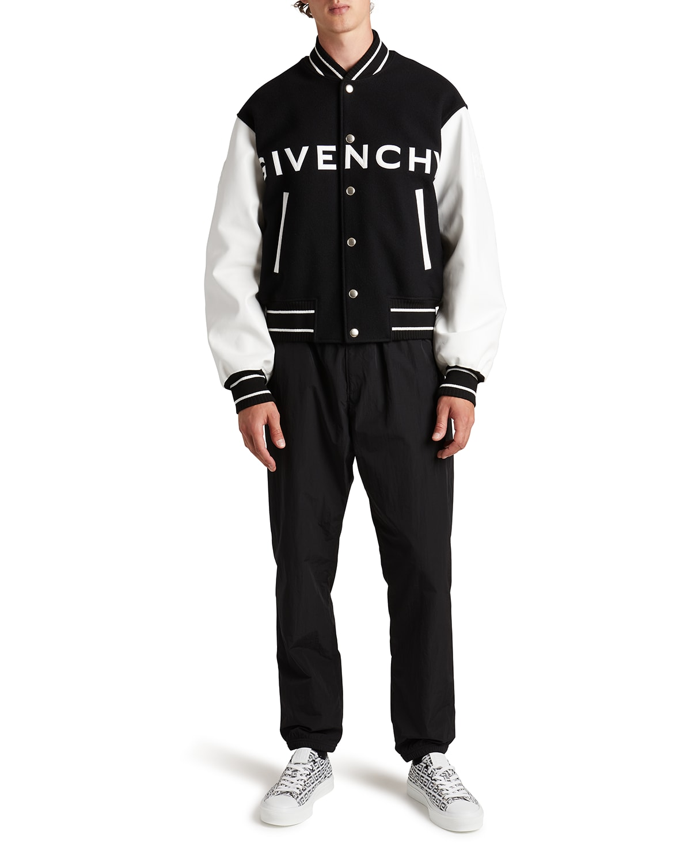 Men's Wool-Leather Logo Varsity Jacket