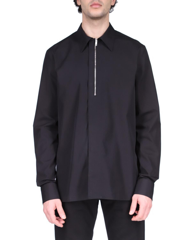 Men's Half-Zip Poplin Pullover Shirt
