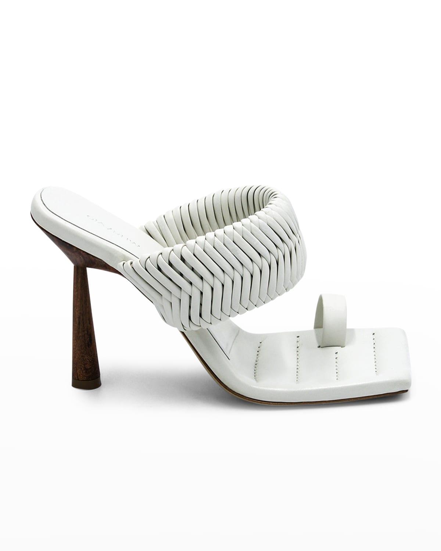Woven Toe-Ring Slide Sandals