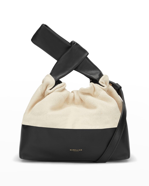 Santa Monica Ruched Top-Handle Bag