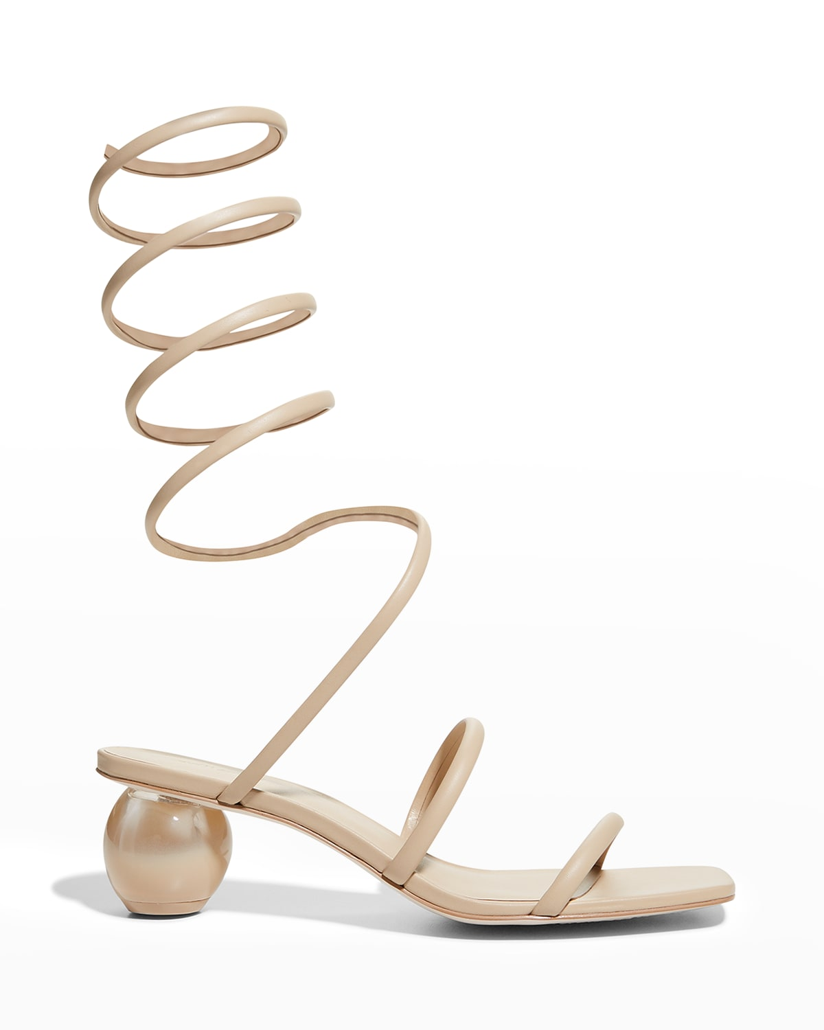 Freya Leather Ankle-Coil Sandals