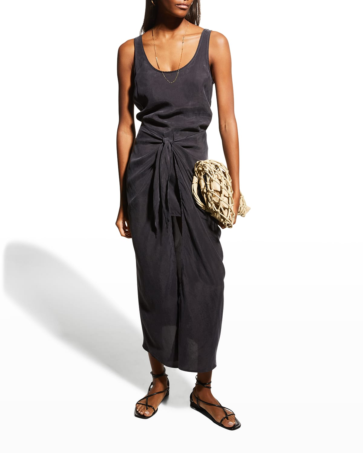 The DK Midi Wrap Cover-Up Dress