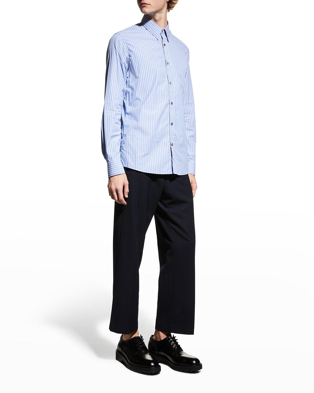 Men's Cadogan Striped Point-Collar Sport shirt