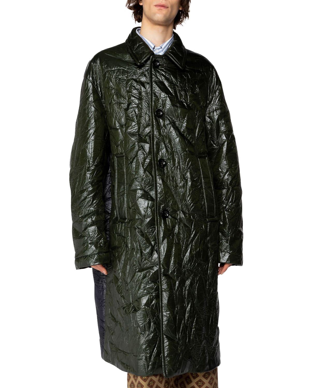 Men's Colorblock Long Rink Coat
