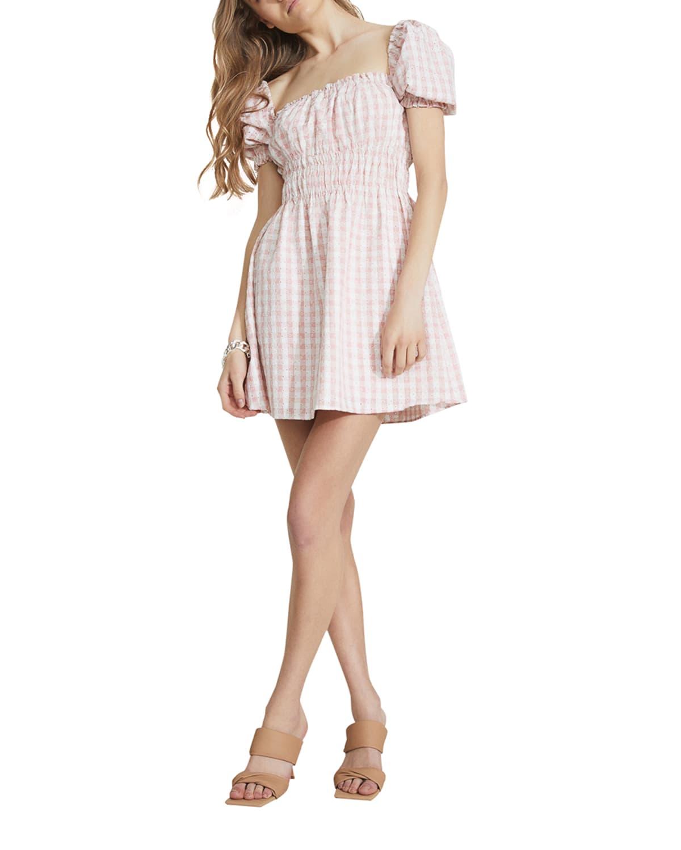 Bridgette Gingham Mini Day Dress
