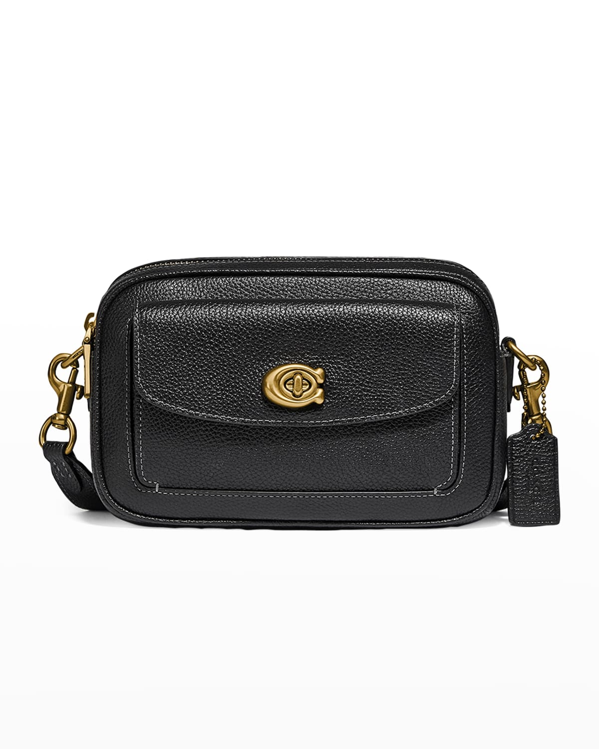 Willow Pebbled Leather Camera Crossbody Bag