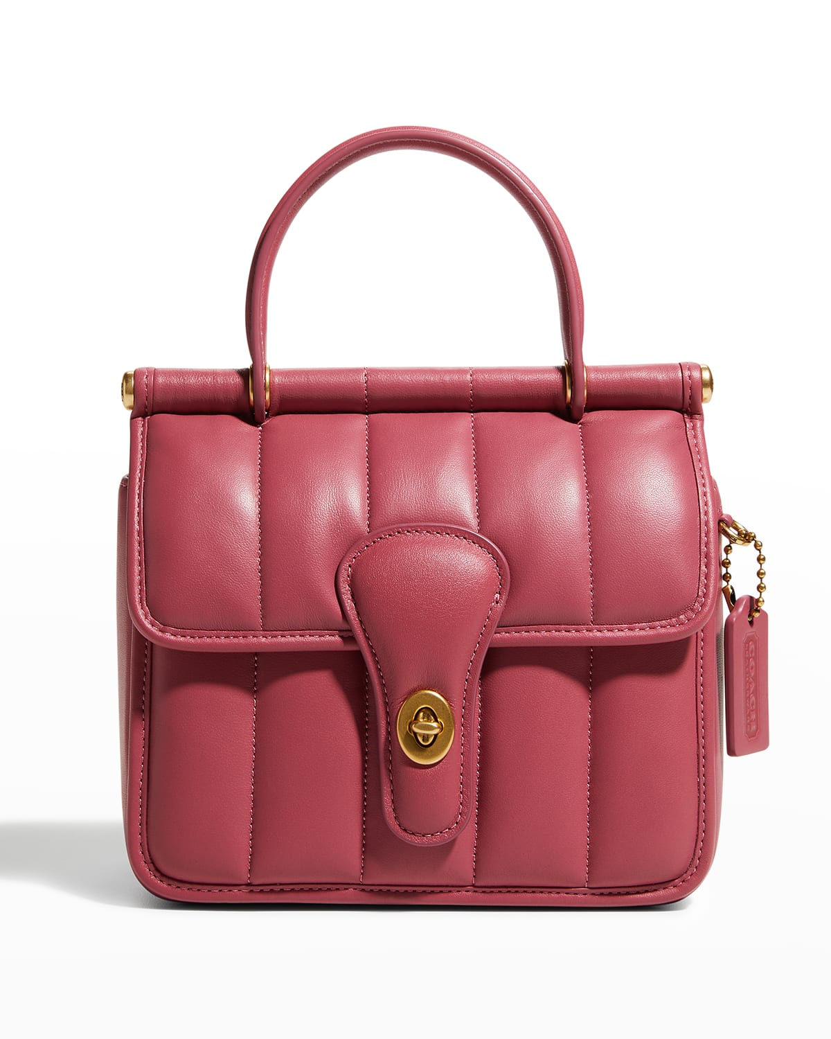 Willis 18 Quilted Leather Top-Handle Bag