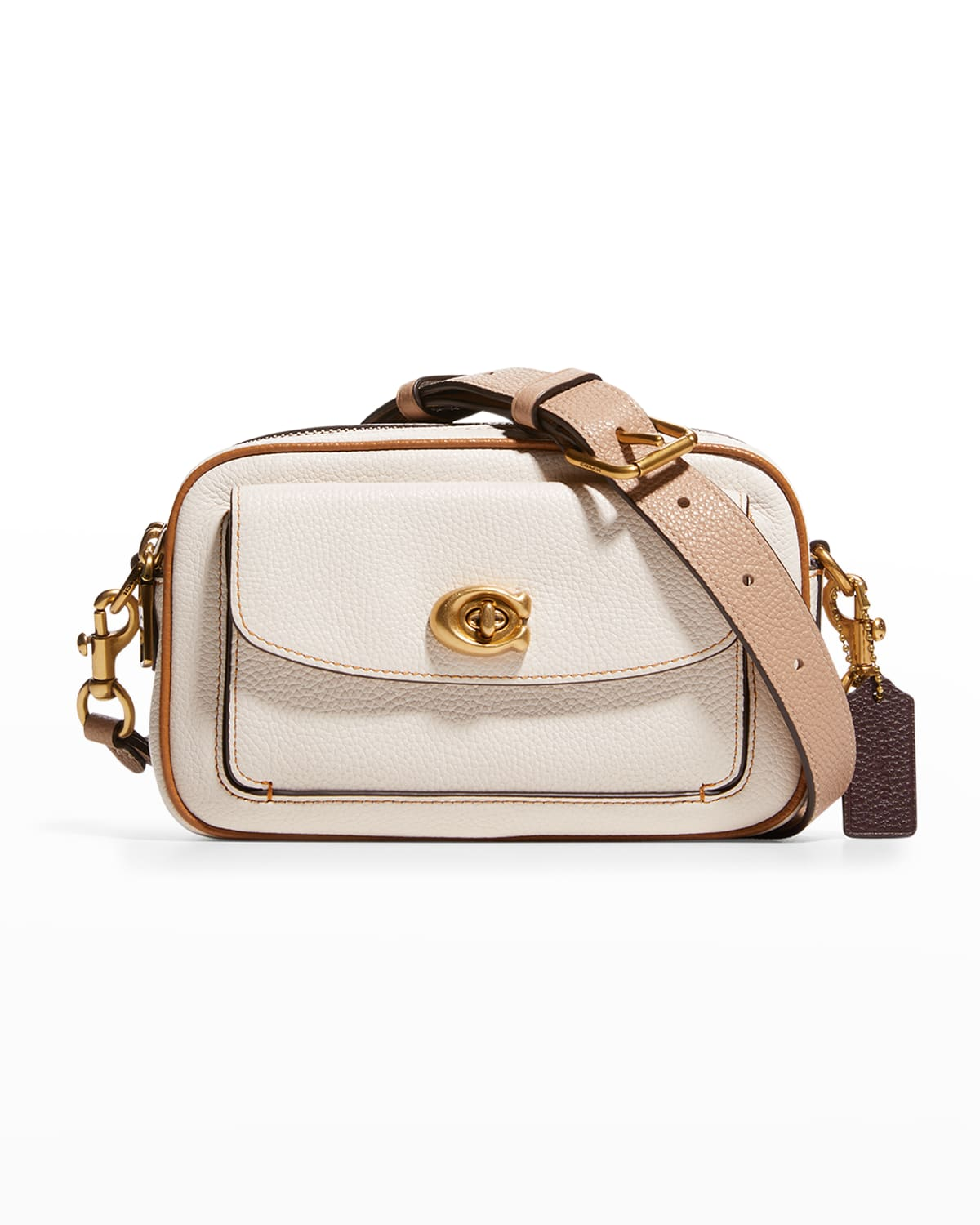 Willow Leather Camera Crossbody Bag