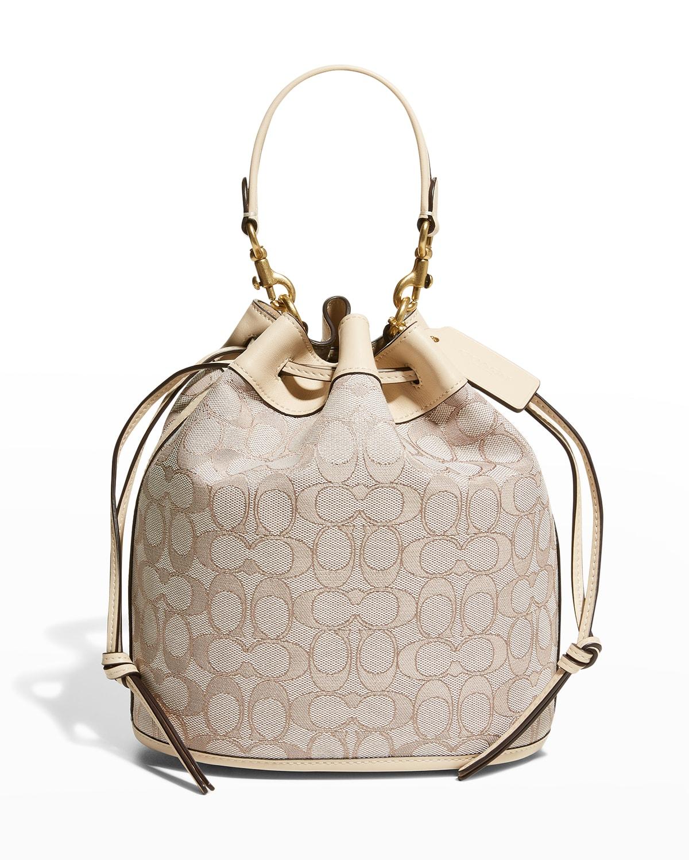 Signature Jacquard Field Bucket Bag