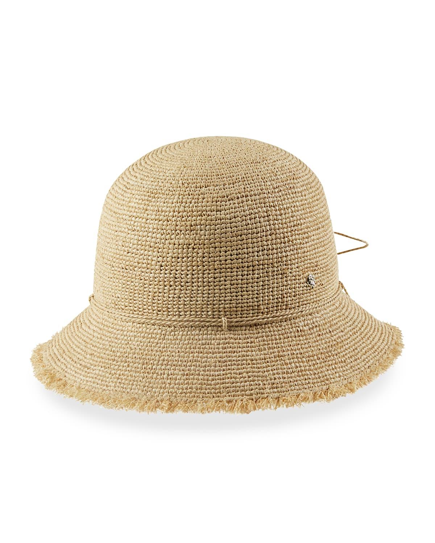 Emmie 6 Packable Raffia Bucket Hat