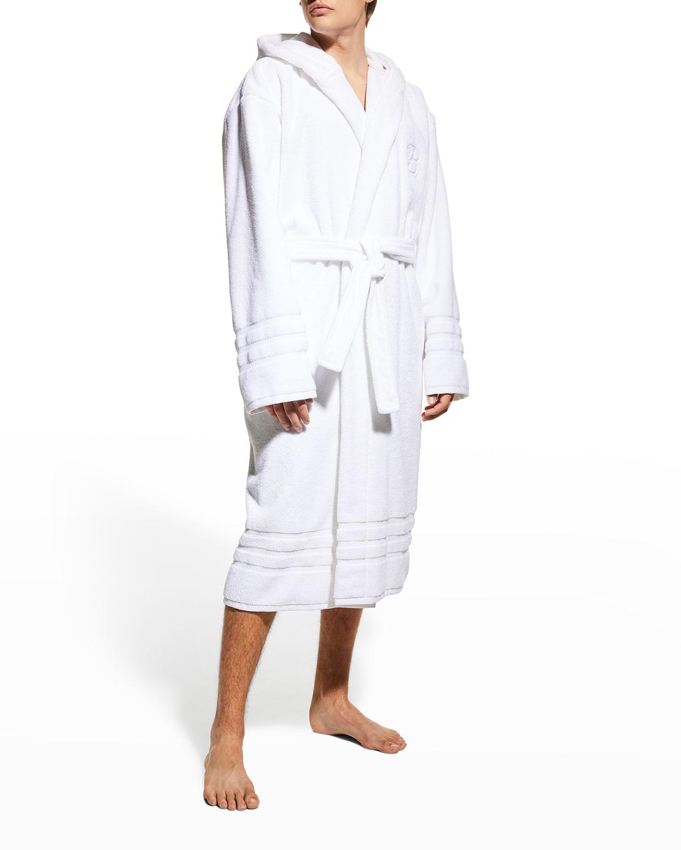 Men's Solid Towel Bathrobe