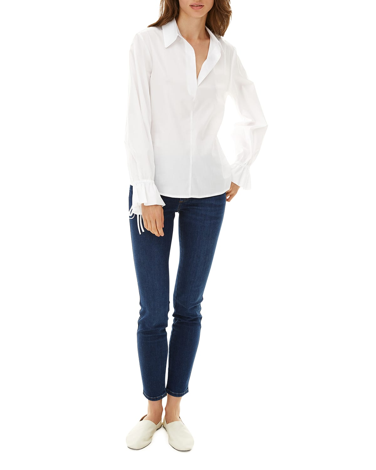 Aster Twill Popover Blouse