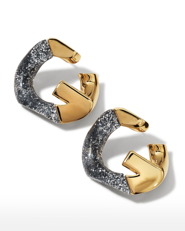 Men's G Chain Glitter Earrings
