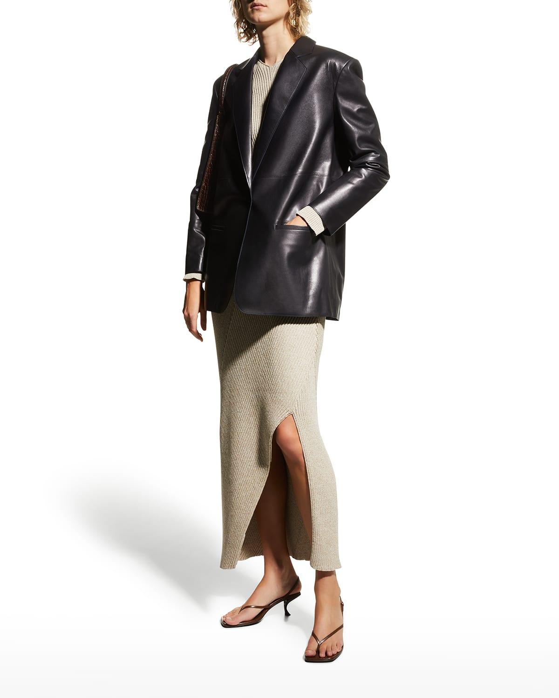 Mercedes Leather Blazer
