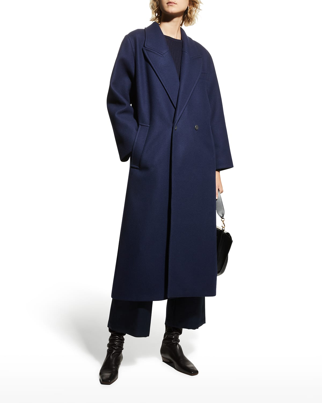 Isla Double-Breasted Long Coat