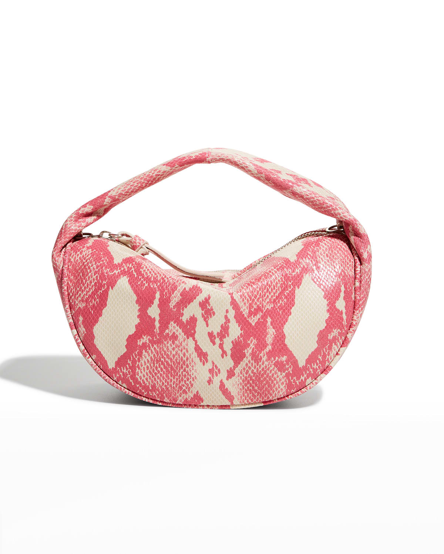 Baby Cush Snake-Print Shoulder Bag