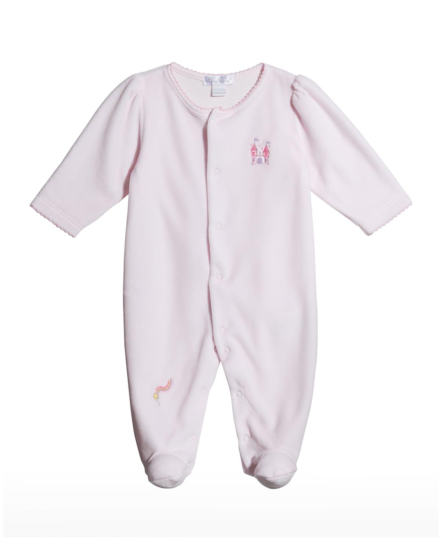 Girl's Fairytale Fun Velour Footie Pajamas