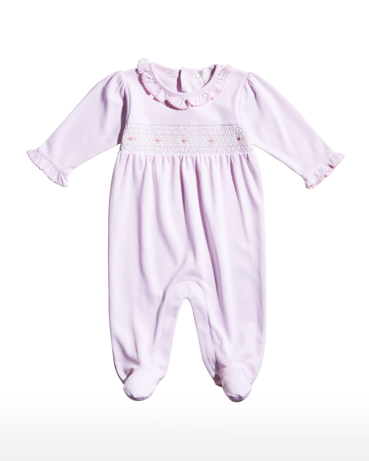 Girl's Floral Embroidered Ruffle CLB Footies