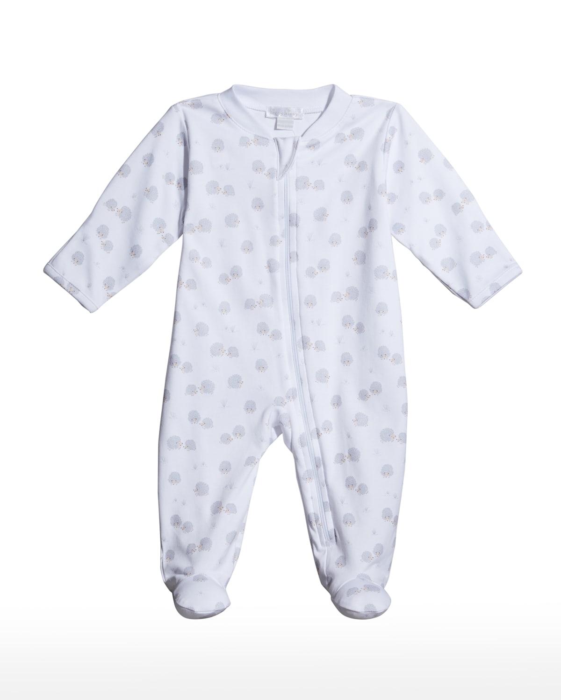 Kid's Hedgehog Haven Zip-Up Footie Pajamas