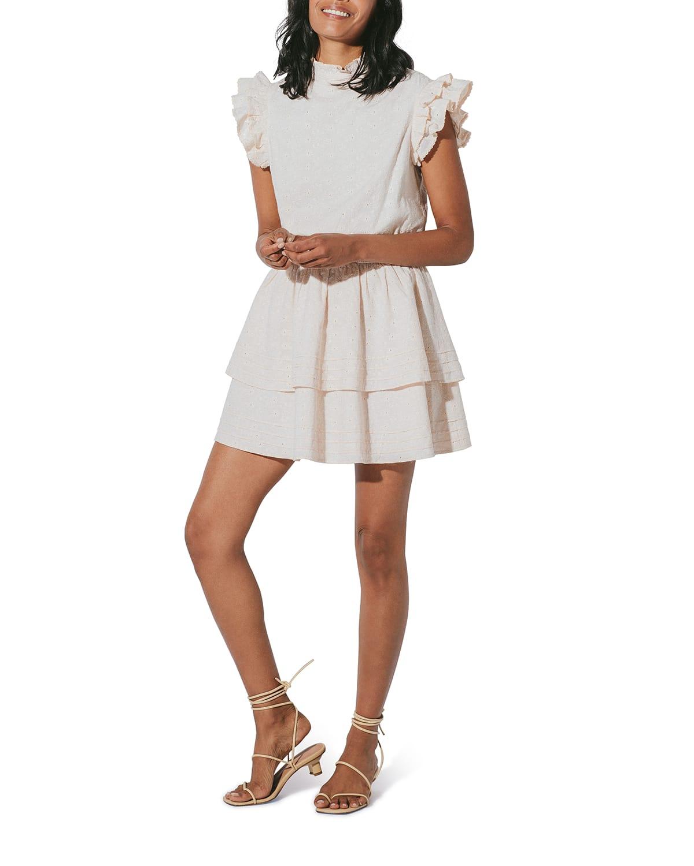 Venita Eyelet Cotton Mini Dress
