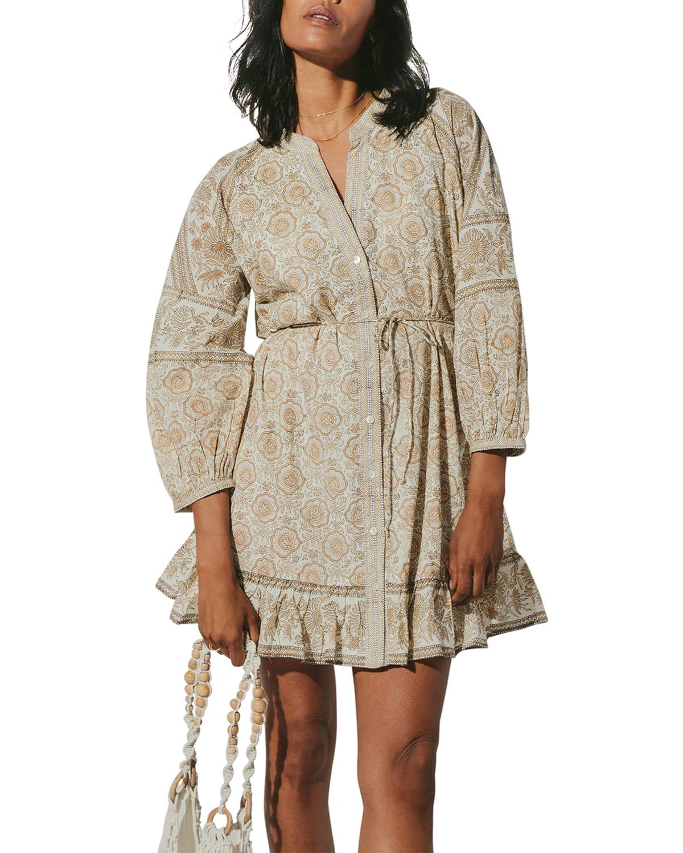 Viola Drawstring Mini Dress