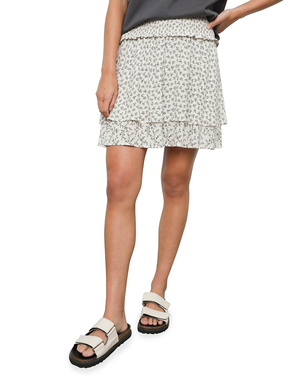 Addison Floral-Print Mini Skirt