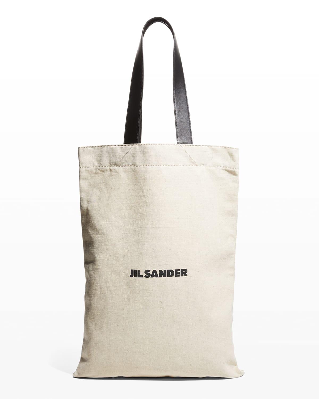Grande Logo Flat Shopper Tote Bag