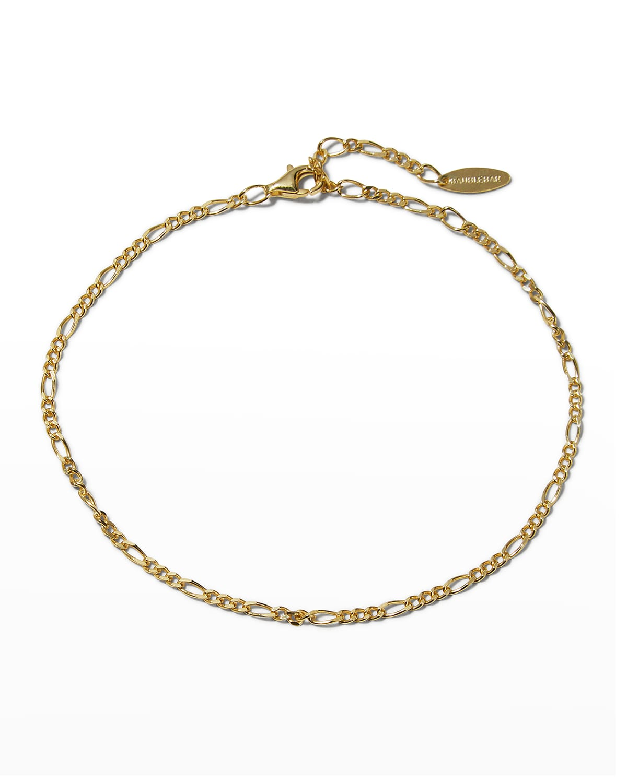Figaro 14k Gold Vermeil Ankle Bracelet
