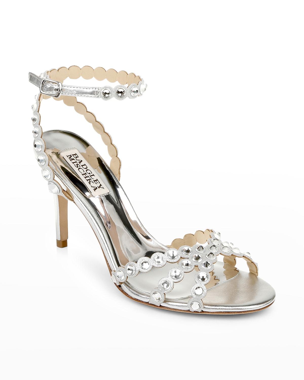 Banksy Crystal-Stud Stiletto Sandals