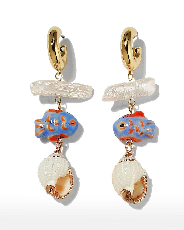 Cora Hoop Dangle Earrings