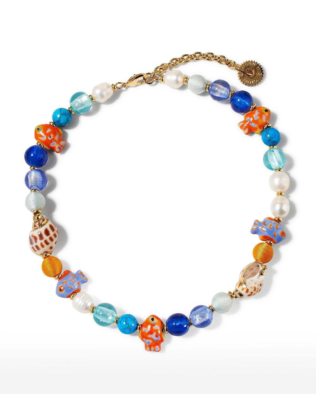 Bimini Glass Beaded Necklace